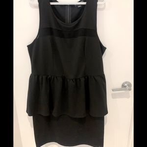 Black plus size peplum dress